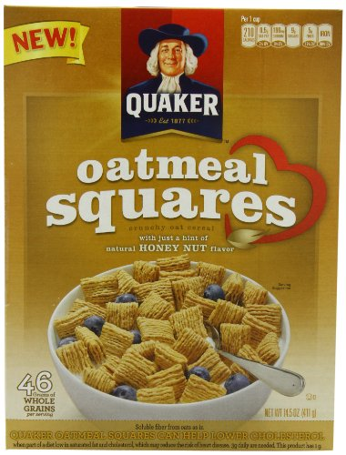 Dinner Oatmeal (Quaker Oatmeal Squares, Honey Nut, 14.5-Ounce (Pack of 4))