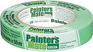 Painter's Mate Green Brand CP 150/8-Day Painter's Tape, Multi-Surface, 24mm x 55m, Green, 1 Roll (103369)