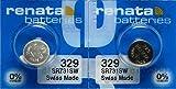 Renata Watch Electronic 329 Silver Oxide Battery 2 Pcs