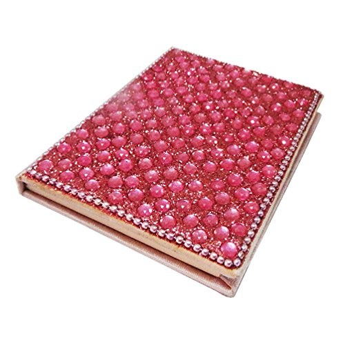 Decorative Trinket Diary Satin Fabric Lac Material Beaded Pink Small Notepad Plain Paper Handmade Stationery Gift Item