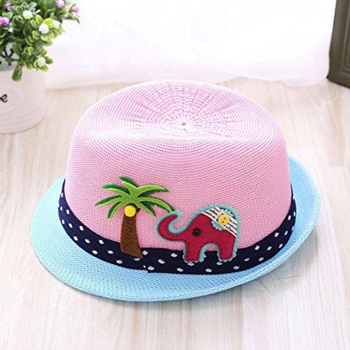 LtrottedJ Summer Baby Hat Cap Children Breathable Hat, Show Kids Hat Boy Girls Hats Caps (Pink)