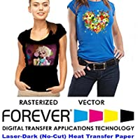 Forever Laser Dark No-Cut A+B Paper 11 X 17- 25 Sheets Heat Transfer Paper