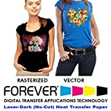 Forever Laser Dark No-Cut A+B Paper 8.5' X 11'- 25 Sheets Heat Transfer Paper
