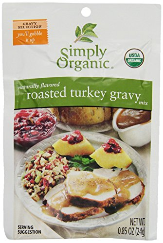 Simply Organic Roasted Turkey Gravy, Seasoning Mix, Certified Organic, 0.85-Ounce Packet (Pack of 12)