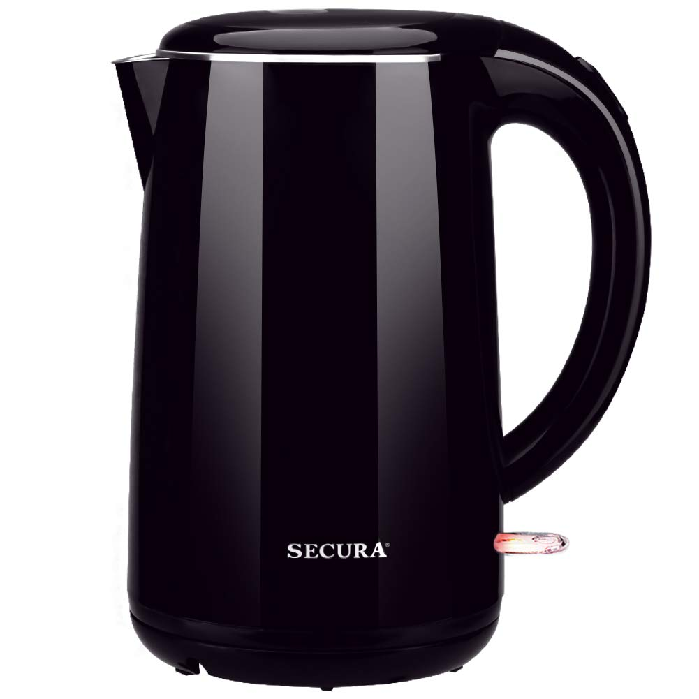 Secura SWK-1701DDP Stainless Steel Double Wall Electric Water Kettle 1.8 Quart, One Size, Dark Purple