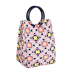 Fit and Fresh Fit & Fresh Retro Insulated Lunch Bag with Reusable Ice Pack (Navy Coral)