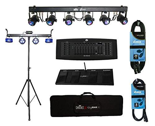 Chauvet GIGBAR IRC Gig Light Pack + 6SPOT +FREE DMX Controller & Cables