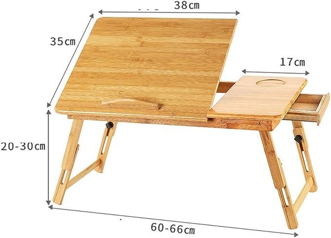 Bases de portátiles Escritorio portátil de bambú Plano Cama ...