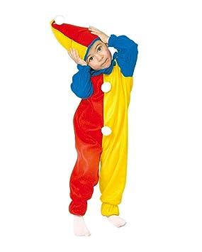 Colorido payaso Niño Disfraz: Amazon.es: Juguetes y juegos