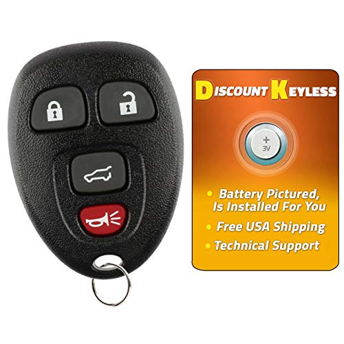 Discount Keyless Replacement Key Fob Car Remote Compatible with OUC60270, 15913416