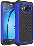 Galaxy J3 Case, Express Prime Case, Amp Prime Case, NOKEA [Shock Absorption] Hybrid Armor Defender Protective Case Cover for Samsung Galaxy J3 / Express Prime / Amp Prime (Blue)
