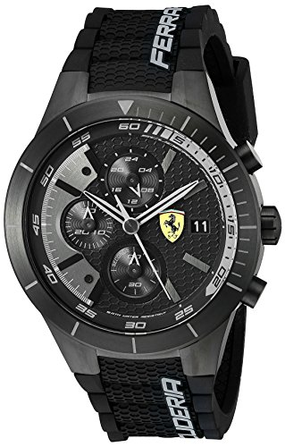 Ferrari Men's 0830262 REDREV EVO Analog Display Japanese Quartz Black Watch