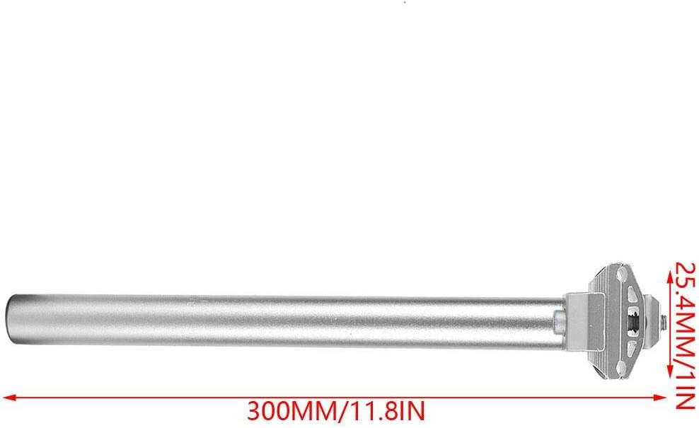 VGEBY1 Fahrradsattelst/ütze 300MM sto/ßfeste Sattelst/ützenwanne mit Micro Adjust Clamp f/ür Mountain Road Bikes Fahrradsattelrohr 25,4