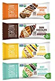Go Raw Organic Gluten-Free Vegan Sprouted Grow Protein Bars 4 Flavor Sampler Bundle: (1) Cinnamon Spice, (1) Dark Chocolate, (1) Zesty Lemon, & (1) Mint Chocolate, 1.9 Oz Ea (4 Bars)