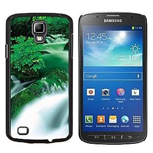 For Samsung Galaxy S4 Active i9295 Case , Cascada Negro y Blanco Puesta del sol- Diseño Patrón Teléfono Caso Cubierta Case Bumper Duro Protección Case Cover Funda