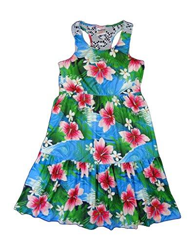 Maui Clothing Girls Angelina Crochet Hibiscus Sundress (6) (Pocahontas Dress Up)