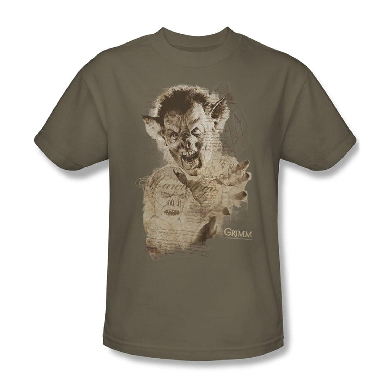 Grimm - Mens Murcielago Sketch T-Shirt In Safari Green
