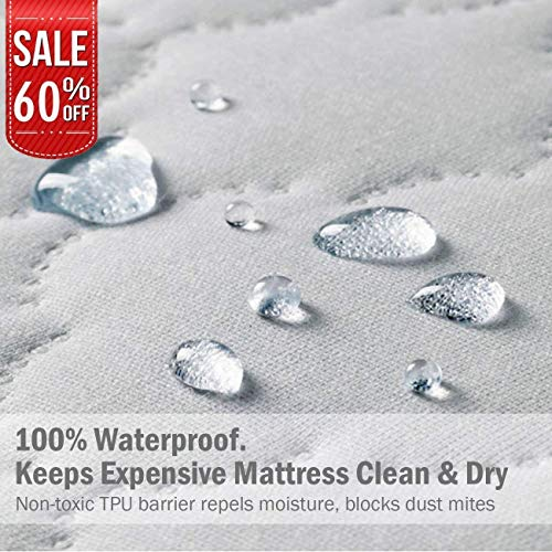 LINENWALAS Reinforced Waterproof Mattress Protector – 100% Quiet