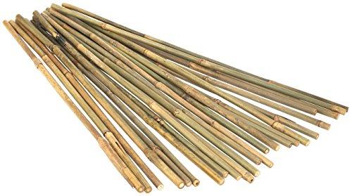 (Kaya Collection 1260 1/2 Inch Stake Poles-12 Pack Bamboo Poles, 6 Feet, Natural )