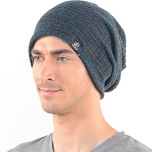 1fa7acfa493 Casualbox mens Slouch Large Big Beanie Baggy Hat Knit Japanese ...