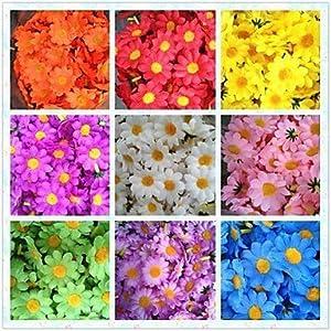 50pcs 4cm 10Colors Artificial Silk Sun Flower Daisy Head Home Wedding Party Favors Decorations Table Centrepieces-HSE 5