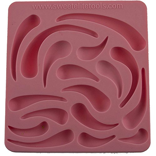 Sweet Elite Tools - Trapunto Set Silicone Rolled Fondant and Gumpaste Mold by Colette Peters