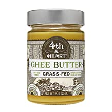Vanilla Bean Grass-Fed Ghee Butter by 4th & Heart 9 Ounce, Pasture Raised, Non-GMO, Lactose Free, Certified Paleo, 0g Carbs