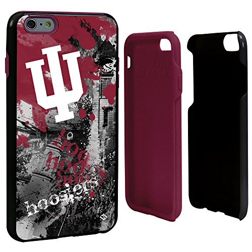 Guard Dog NCAA Indiana Hoosiers Paulson Designs Spirit Hybrid Case for iPhone 6 Plus, One Size, Black