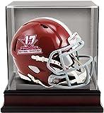 Sports Memorabilia Riddell Alabama Crimson Tide College Football Playoff 2017 National Champions Revolution Speed Mini Football Helmet w/Mahogany Mini Helmet Display Case