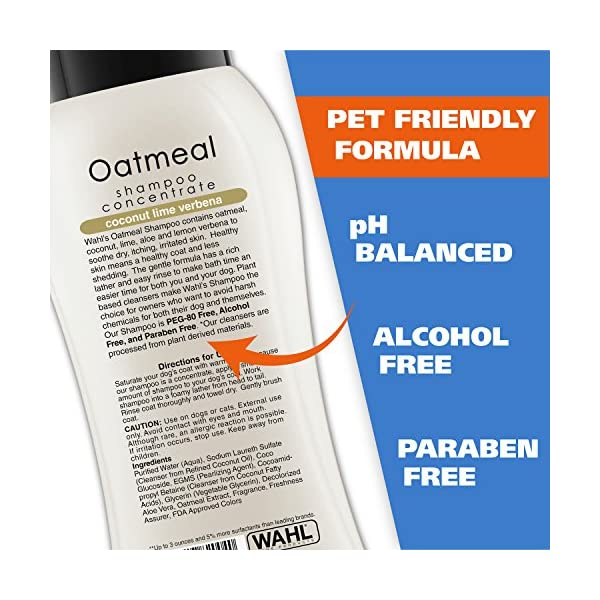 Wahl Dry Skin & Itch Relief Pet Shampoo for Dogs – Oatmeal Formula with Coconut Lime Verbena & 100% Natural Ingredients – 24 Oz 3