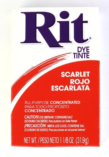 Rit Dye Powder Dye, 1-1/8 oz, Scarlet Red, 3-Pack (Red Dye Clothes)