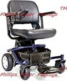 Golden Technologies - LiteRider Envy - Compact Power Chair - Blue - PHILLIPS POWER PACKAGE TM - TO $500 VALUE