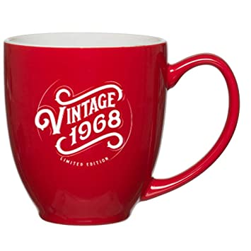 1968 51st Birthday Gifts For Women Men Red Mug