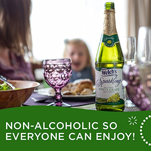 Large Product Image of Welch's Sparkling White Grape Juice Cocktail, Non-Alcoholic, 25.4 Ounce Bottles (Pack of 6)