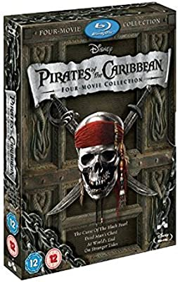 Pirates of the Caribbean 1-4 Boxset Reino Unido Blu-ray: Amazon.es ...