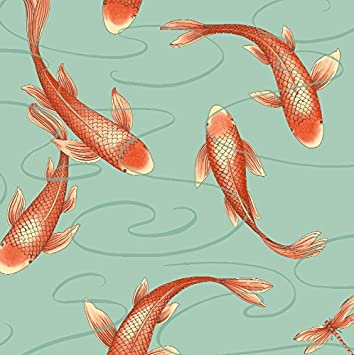Arthouse, Koromo Clearwater Koi Fish Wallpaper, Boho Home Décor