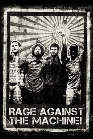 Rage Against the Machine Group Shot Rock Music Poster 24 x 36 inches