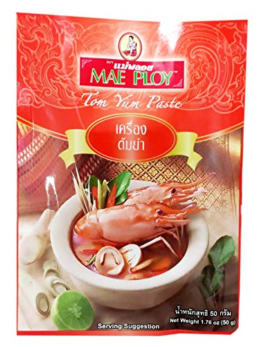 Tom Yum Paste MAE PLOY Brand 50g x 2 Packs / By BENJAWAN shop