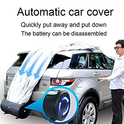 One Key Control Auto Electric Smart Retractable Automatic Car Cover Fit for Sedans & SUVs