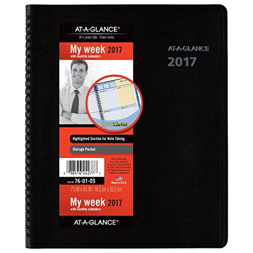 Weekly Book 05 Appointment (AT-A-GLANCE Weekly / Monthly Appointment Book / Planner 2017, QuickNotes, 7-5/8 x 9-7/8