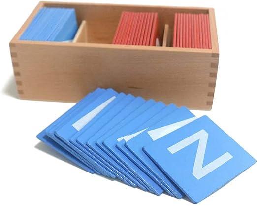 Doyeemei 52 Letras y Caja de Almacenamiento de Madera Alfabeto en ...