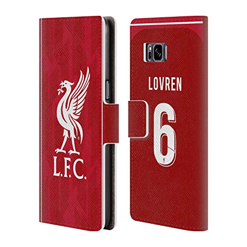 Official Liverpool Football Club Dejan Lovren 2018/19 Players Home Kit Group 1 PU Leather Book Wallet Case Cover for Samsung Galaxy S8