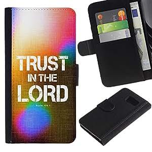 All Phone Most Case / Oferta Especial Cáscara Funda de cuero Monedero Cubierta de proteccion Caso / Wallet Case for Sony Xperia Z3 Compact // BIBLE Trust In The Lord - Psalm 125:1