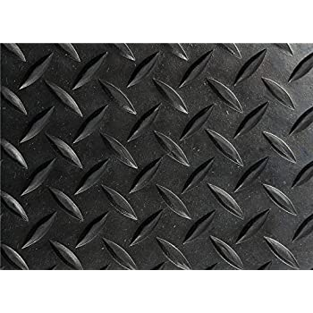 Hefty Mat Diamond Plate Rubber Flooring Roll Anti Slip