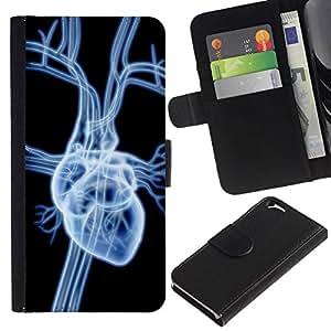 All Phone Most Case / Oferta Especial Cáscara Funda de cuero Monedero Cubierta de proteccion Caso / Wallet Case for Apple Iphone 6 // Heart X Ray