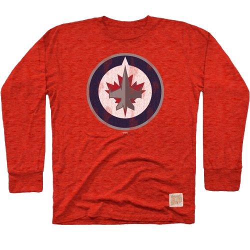 Winnipeg Jets Nhl (NHL Winnipeg Jets Men's Long Sleeve Tri-Blend Tee, XX-Large, Red)