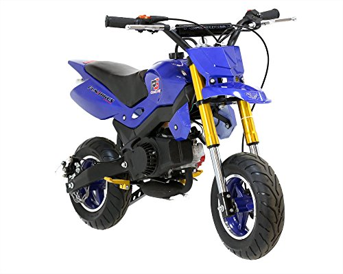 FunBikes Super Motard 50cc 48cm Blue Mini Moto Bike