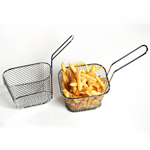 Meiyiu Frying Square Basket Strainer Plating Wire Mesh Fryer Tools for French Fries Fried Food by Meiyiu