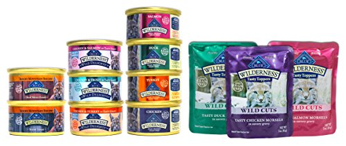 Blue Buffalo Wilderness Cat Food Variety Sampler Box - 12 It