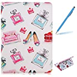 Trumpshop Tablet PC Protective Case for Samsung Galaxy Tab A 9.7 Inches (T550,P550) + Perfume + Premium PU Leather Flip Wallet Cover Bookstyle Stand Feature Shockproof